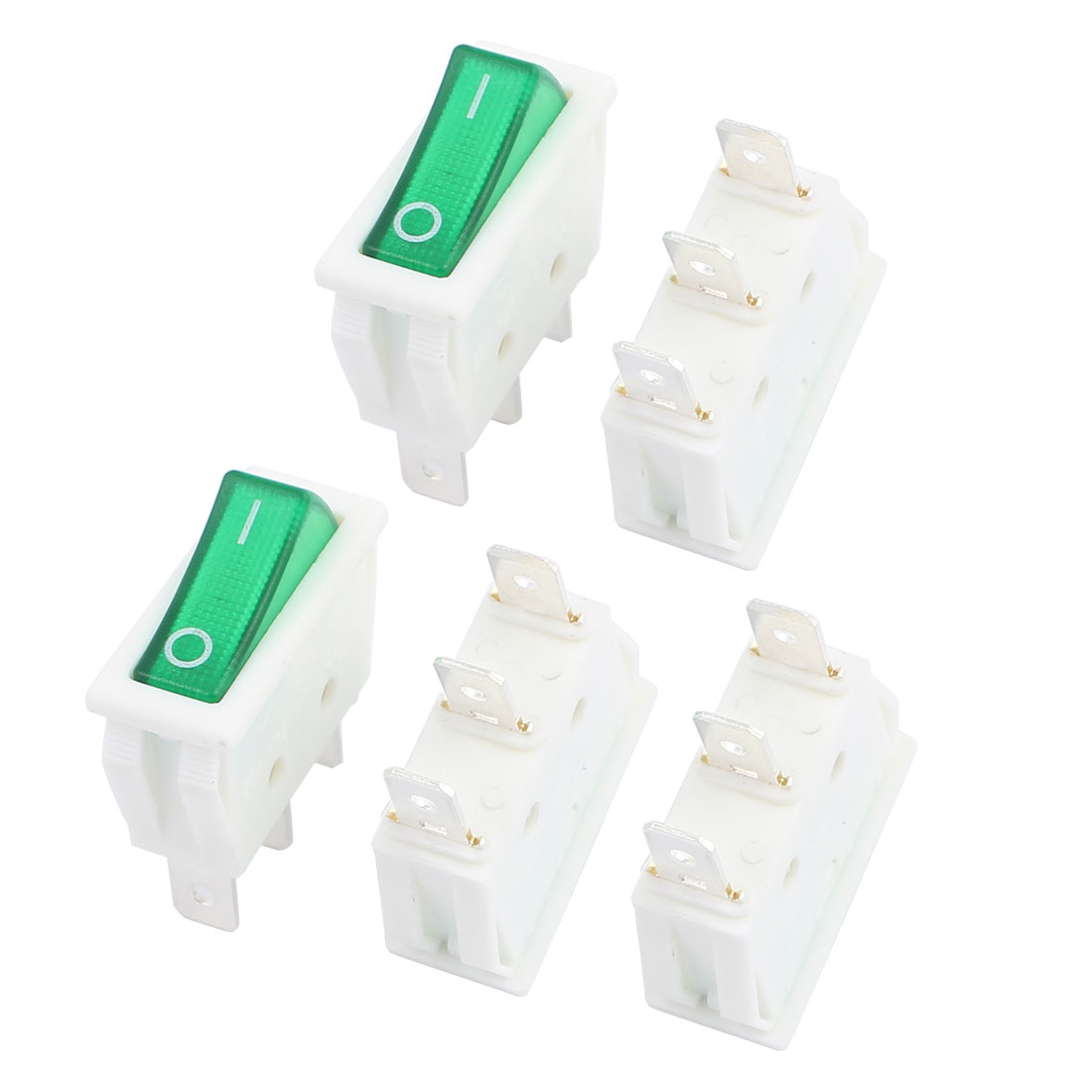 5 Pcs XW-604B 3 Pin 3 Position ON/OFF/ON SPDT Snap in Panel Mount Rocker Switch AC 16A/250V 20A/125V