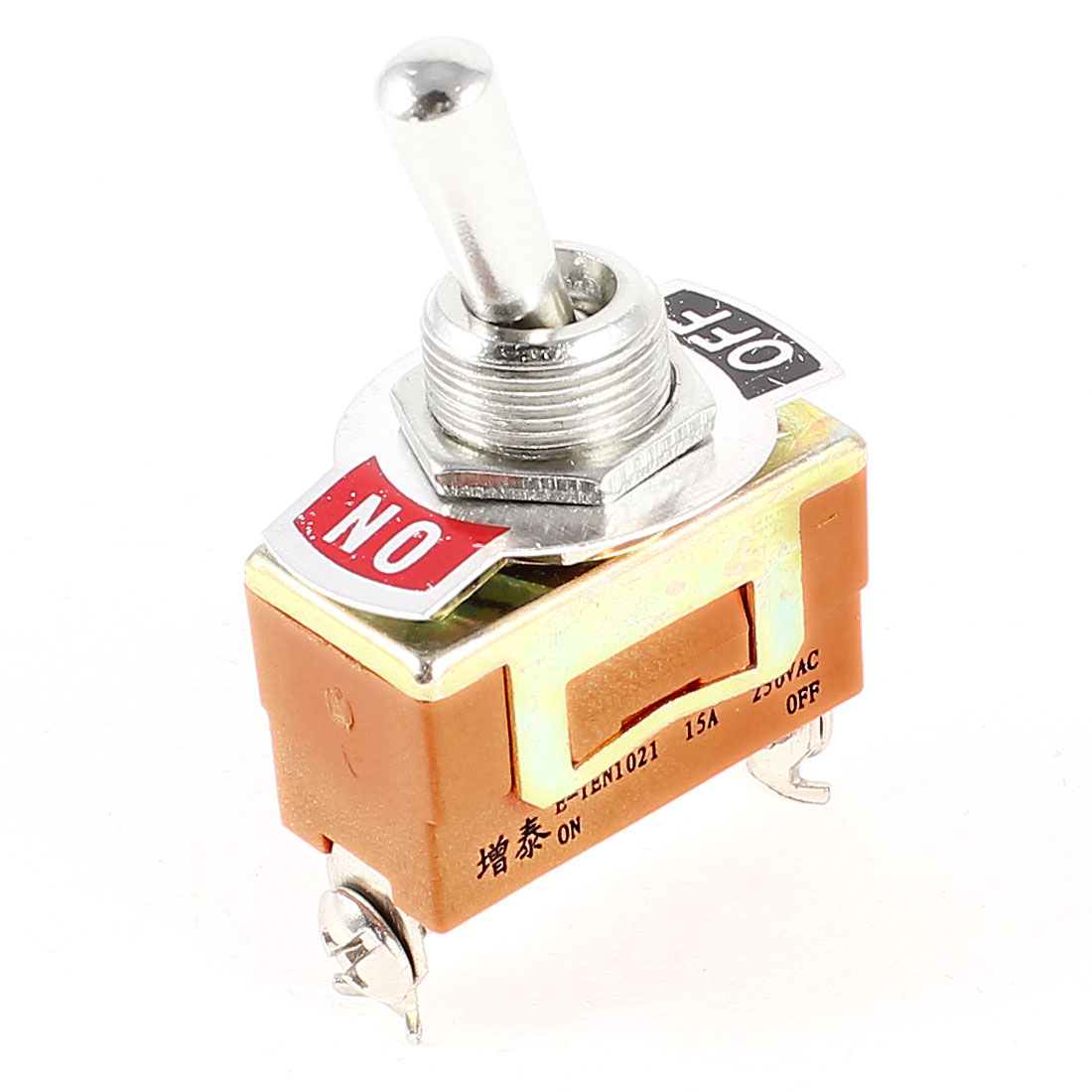 AC 250V 15A ON-OFF SPST 2 Position 2 Terminals Toggle Switch E-TEN1021