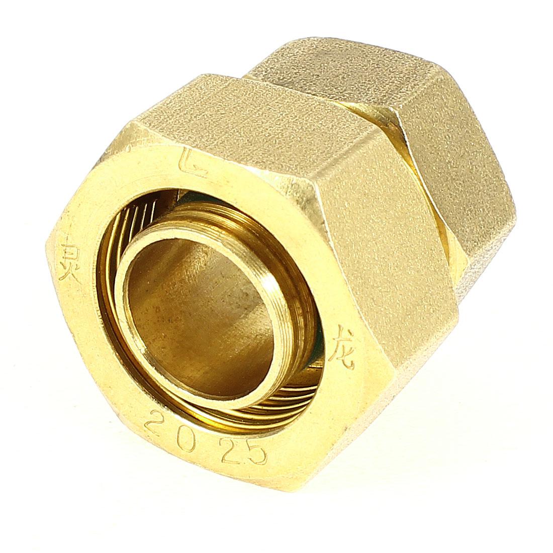 "1"" to 3/4"" PEXworx Pex-Al-Pex Compression x FPT Brass Pipe Fitting"