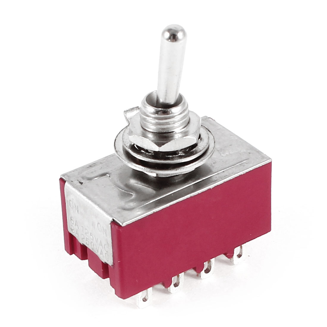 Electric Mini Toggle Switch 4PDT 2 Position ON-ON 12-Pin AC 250V/2A 125V/5A