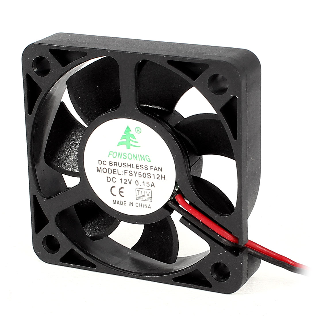 FSY50S12H 50mm x 50mm x 10mm 2Pole 12V DC Brushless Sleeve Bearing Cooling Fan for PC Case
