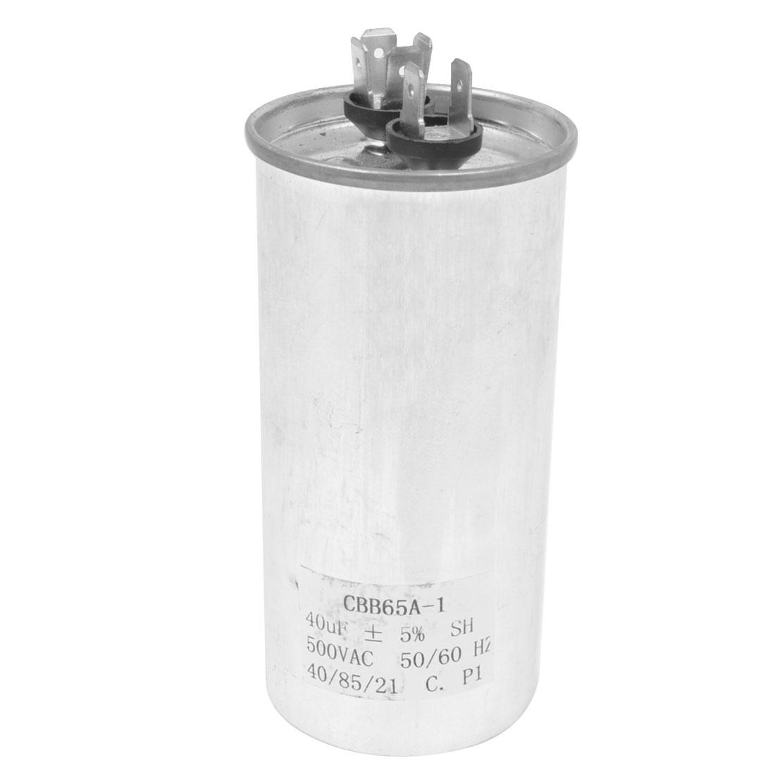 CBB65A-1 Polypropylene Film Motor Capacitor 40uF 50/60Hz AC 500V