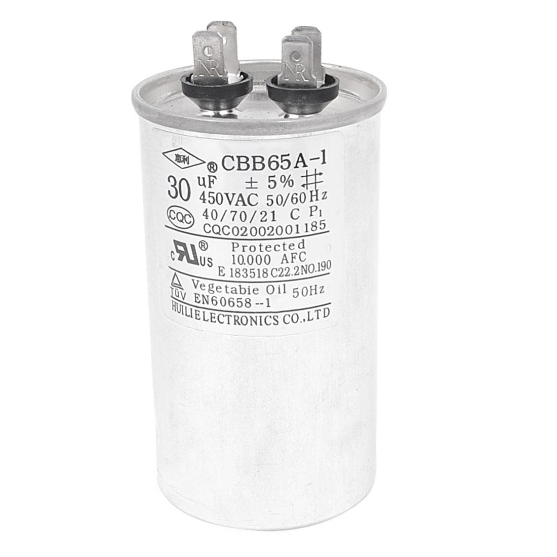 AC 450V 30uF 50/60Hz CBB65A-1 Polypropylene Film Motor Capacitor