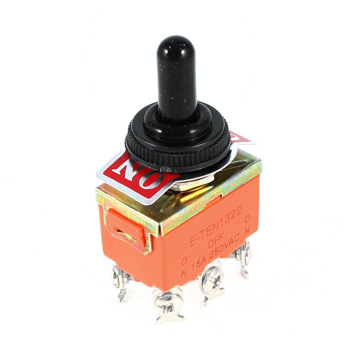 Waterproof Boot 6-Terminals ON/OFF/ON 3 Position DPDT Toggle Switch AC 250V 15A