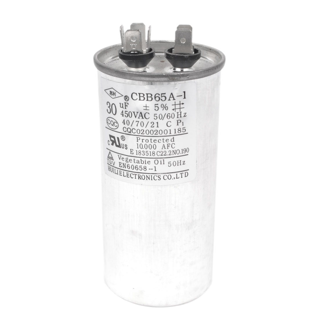 CBB65A-1 Non Polar Air Conditioner Motor Running Capacitor AC 450V 30uF