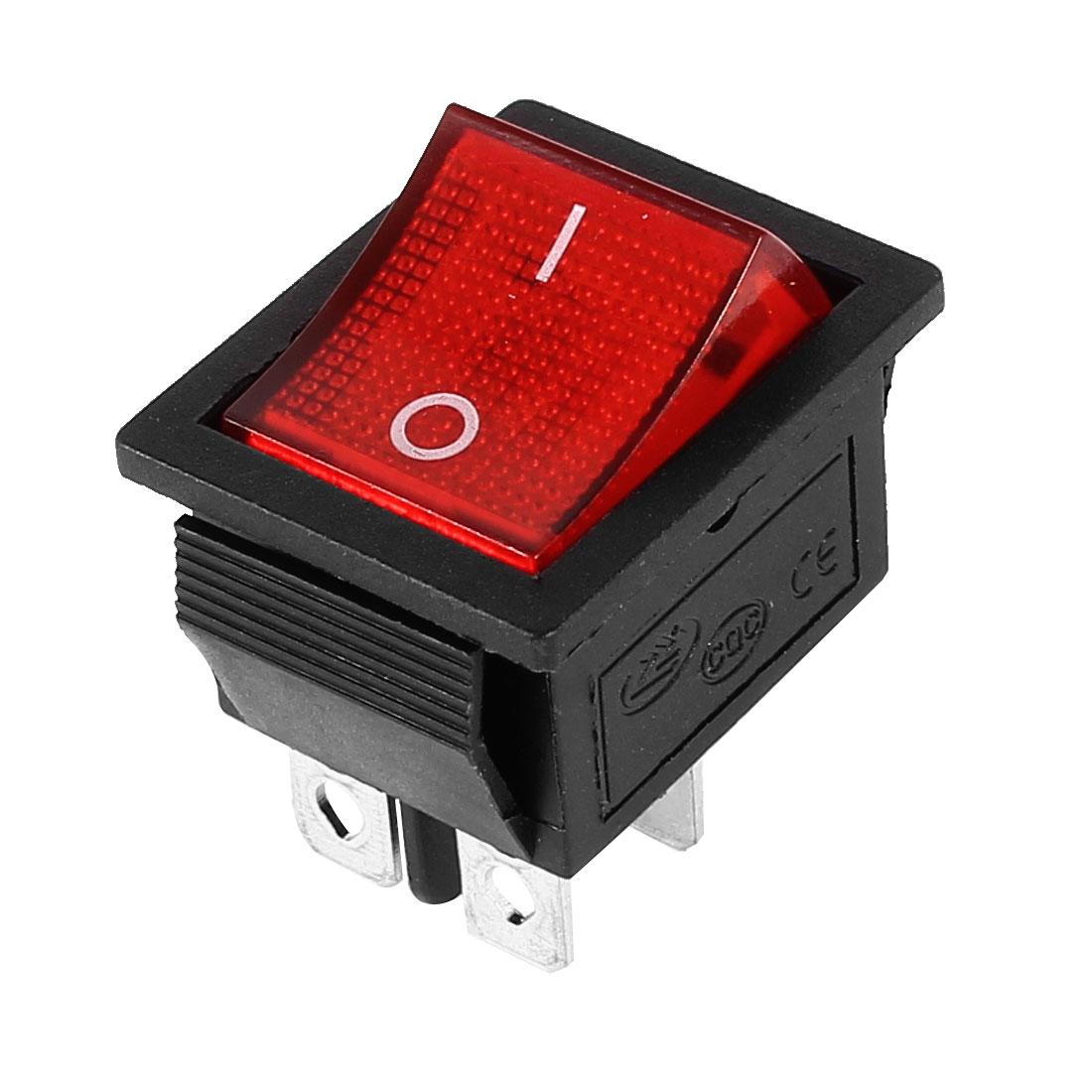 KCD4 DPST 4 Pin On/Off Boat Rocker Switch Red Light AC 15A/250V 20A/125V