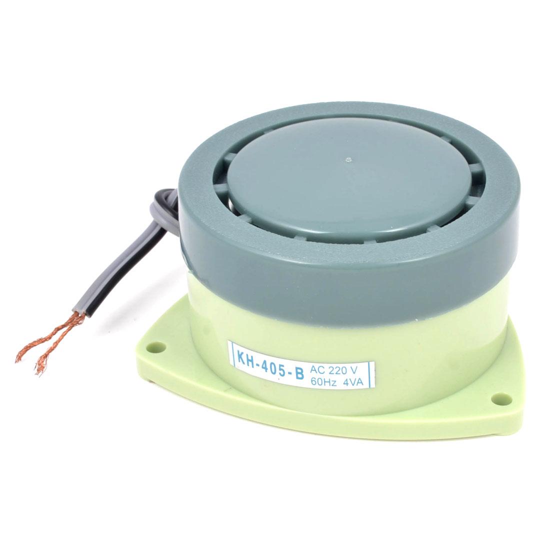 AC 220V 60Hz 4VA Surface Mounting Triangle Buzzer Alarm Light Green Gray