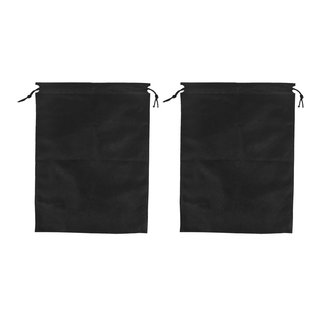Traveling Clothes Dust Cover Storage Drawstring Bags 40 x 30cm Black 2pcs