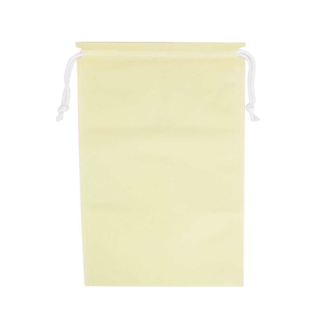 Household Clothes Dust Cover Storage Drawstring Bags 37 x 29cm Beige