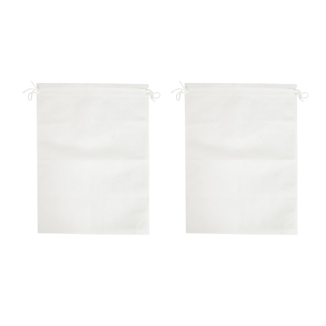 Traveling Garment Suit Cover Protector Drawstring Bag 40 x 30cm White 2pcs