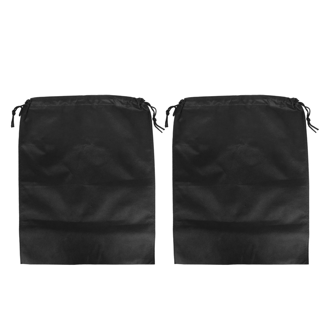 Traveling Foldable Clothes Storage Drawstring Bags 55 x 45cm Black 2pcs