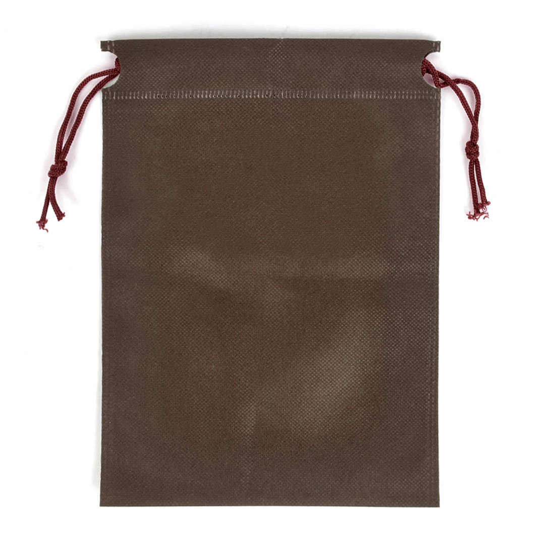 Travel Clothing Non-woven Fabric Storage Drawstring Bags Coffee Color 23 x 17cm