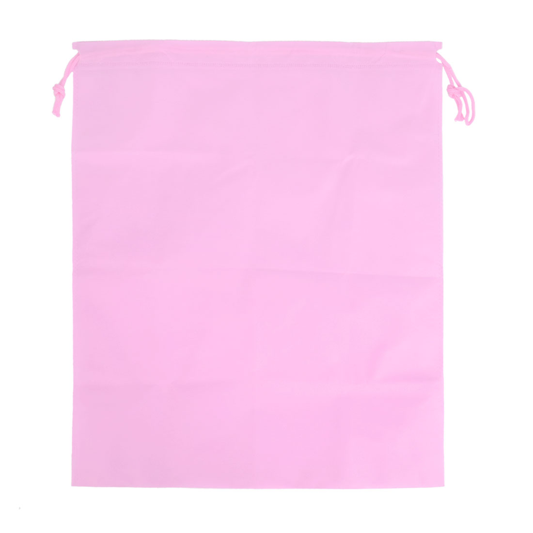 Traveling Clothes Dust Cover Storage Drawstring Bags 23 x 17cm Pink