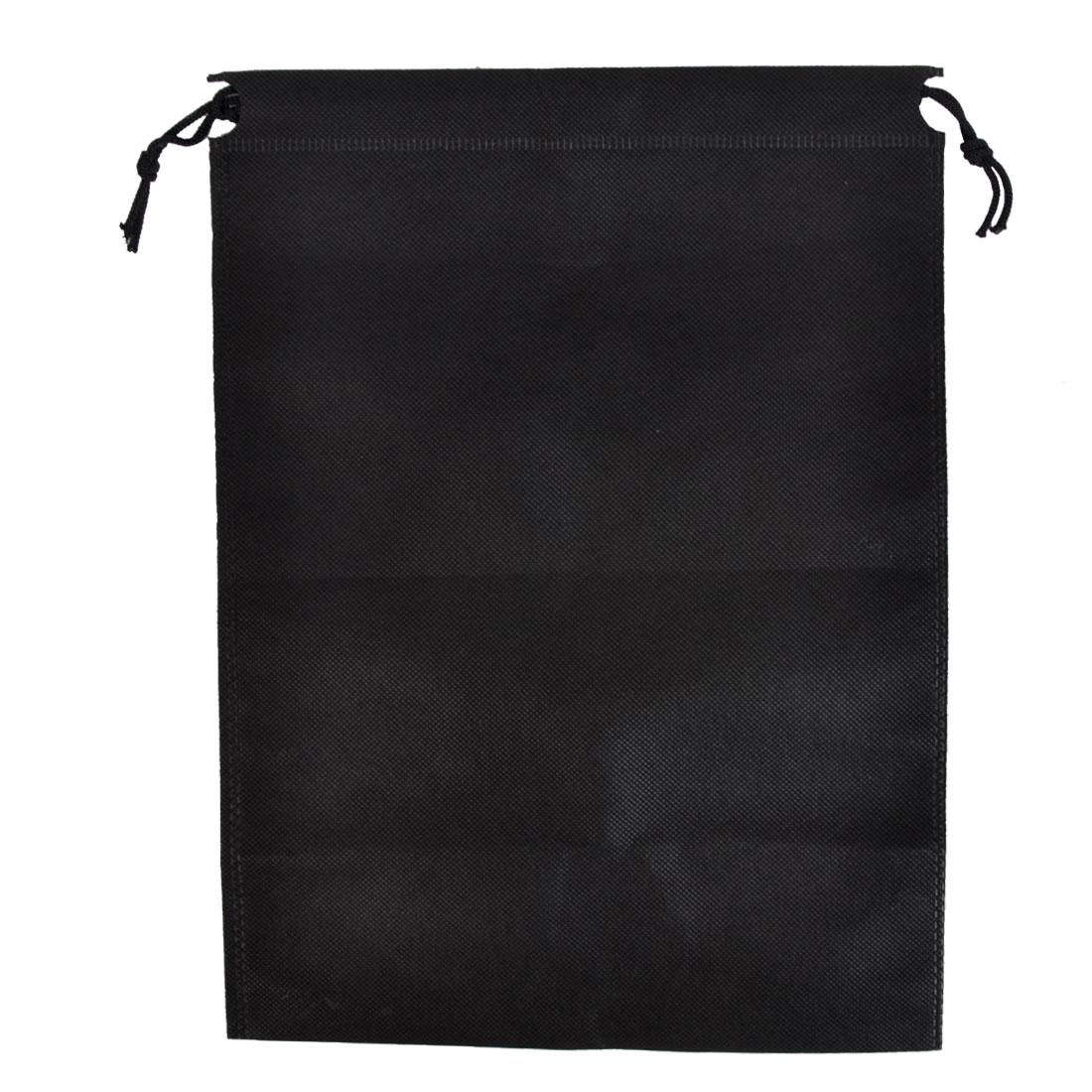 Clothes Dust Cover Storage Travel Drawstring Bags 34 x 25cm Black