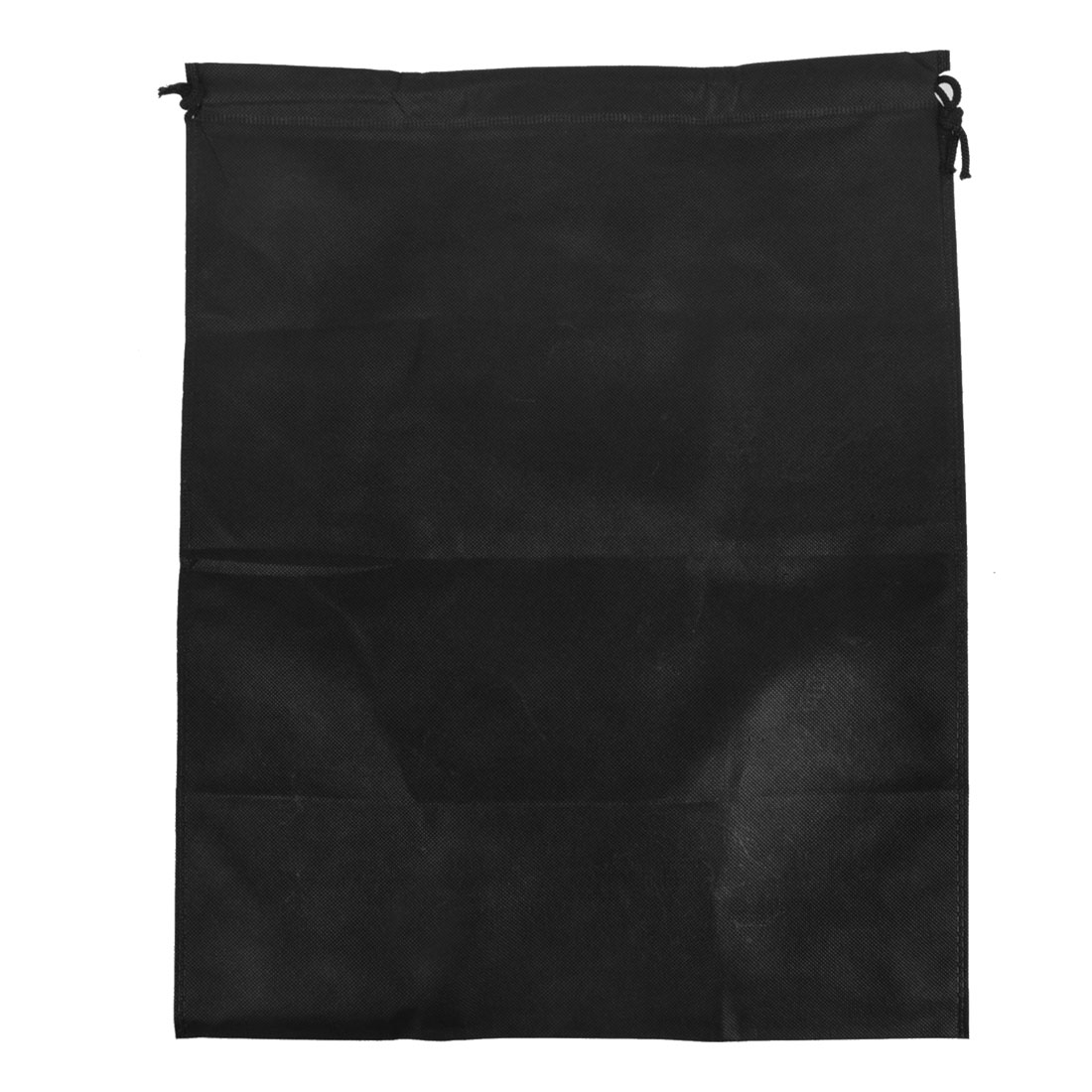Foldable Clothes Dust Cover Storage Drawstring Bags 50 x 40cm Black