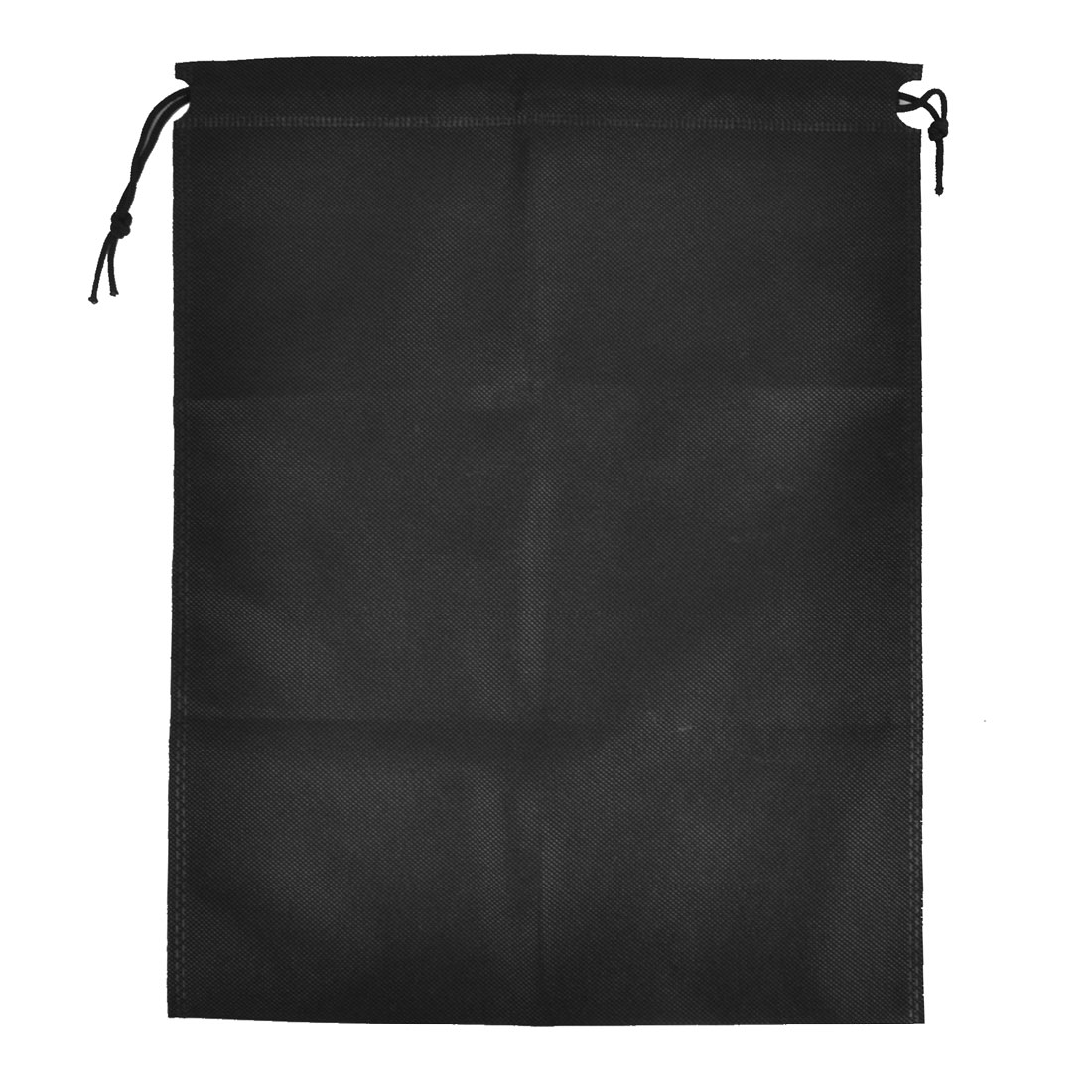 Foldable Clothing Dust Cover Storage Drawstring Bags Black 40 x 30cm