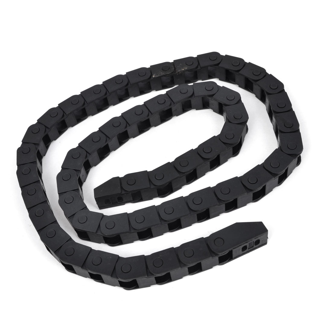 Black Open Type Towline Cable Carrier Drag Chain 10mm x 10mm 105cm