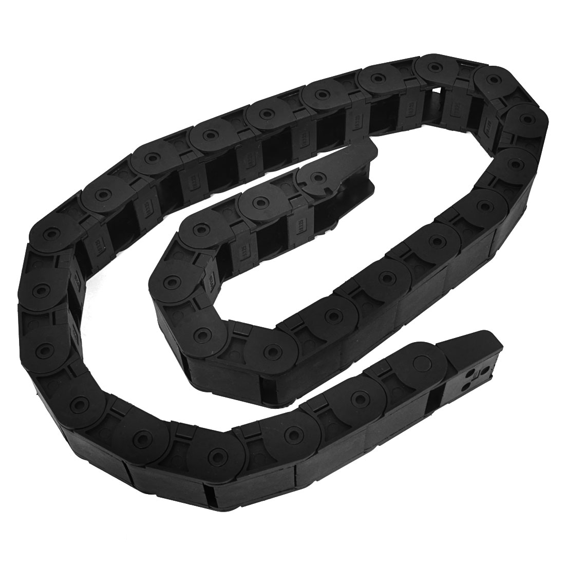 Black Open Type Towline Cable Carrier Drag Chain 18 x 25mm 103cm Long
