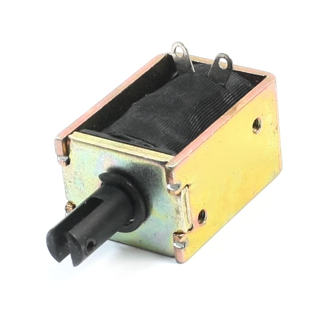 DC12V 11.04W 500g/4mm Push Type Open Frame Solenoid Electromagnet