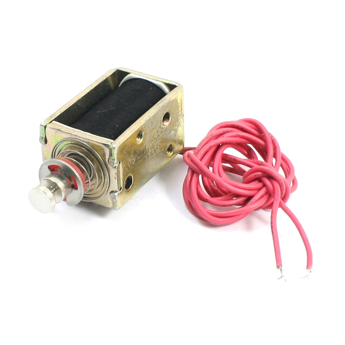 110V Pull Type 5mm 500g Open Frame Wire Connector Solenoid Electromagnet