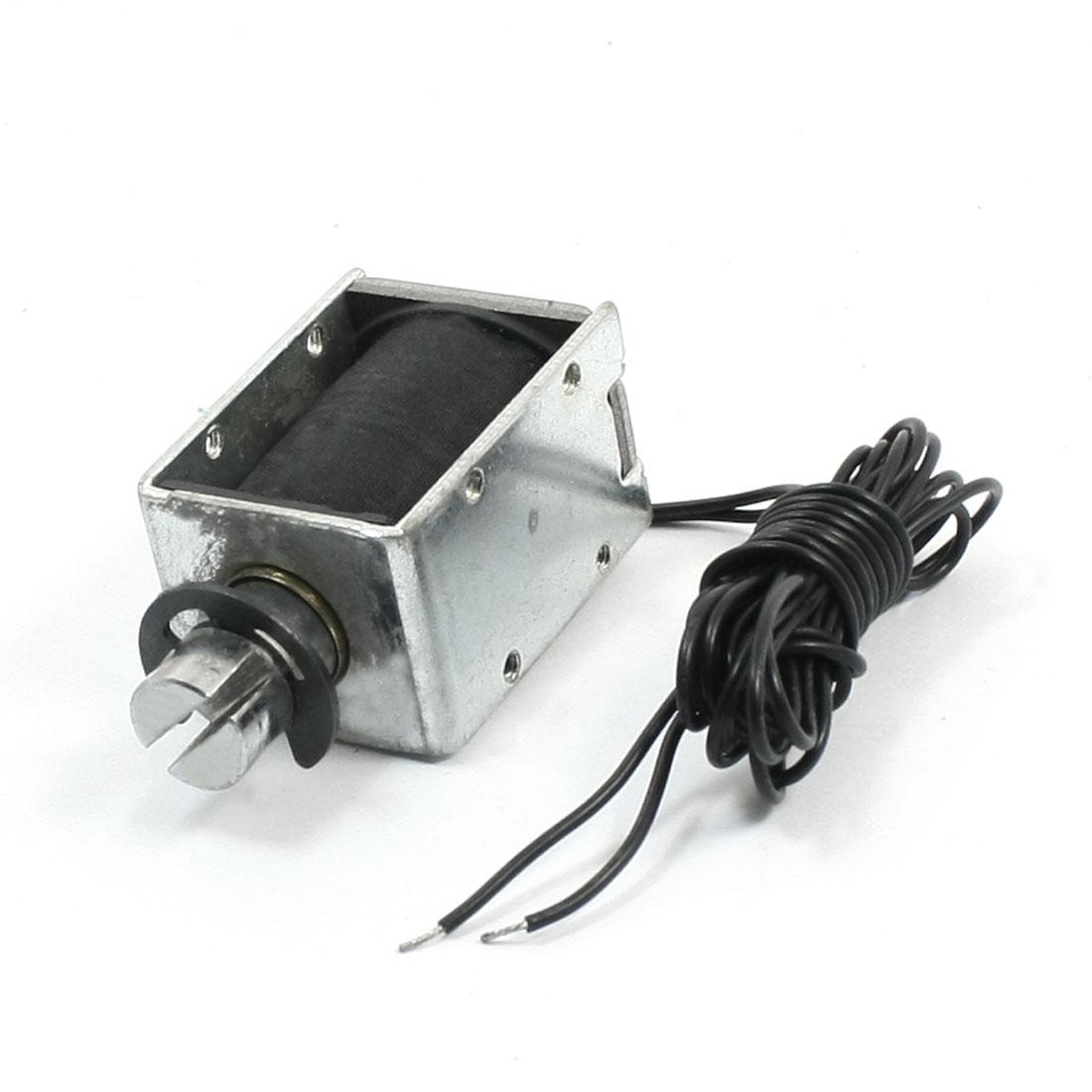 DC24V 800g Force 6mm Stroke 1M Lead Push Type Solenoid Electromagnet