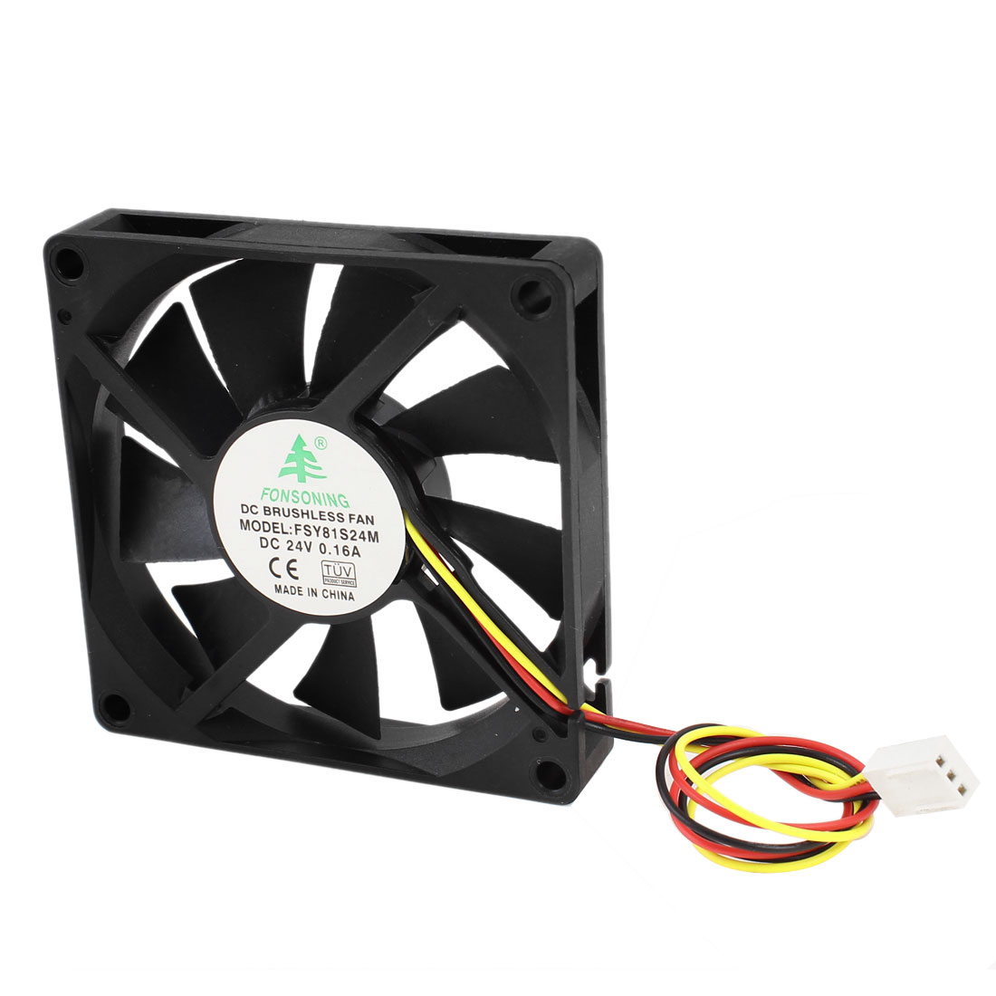 DC 24V 0.16A 3 Pin Connector PC Computer Case Cooling Fan 80mm x 80mm