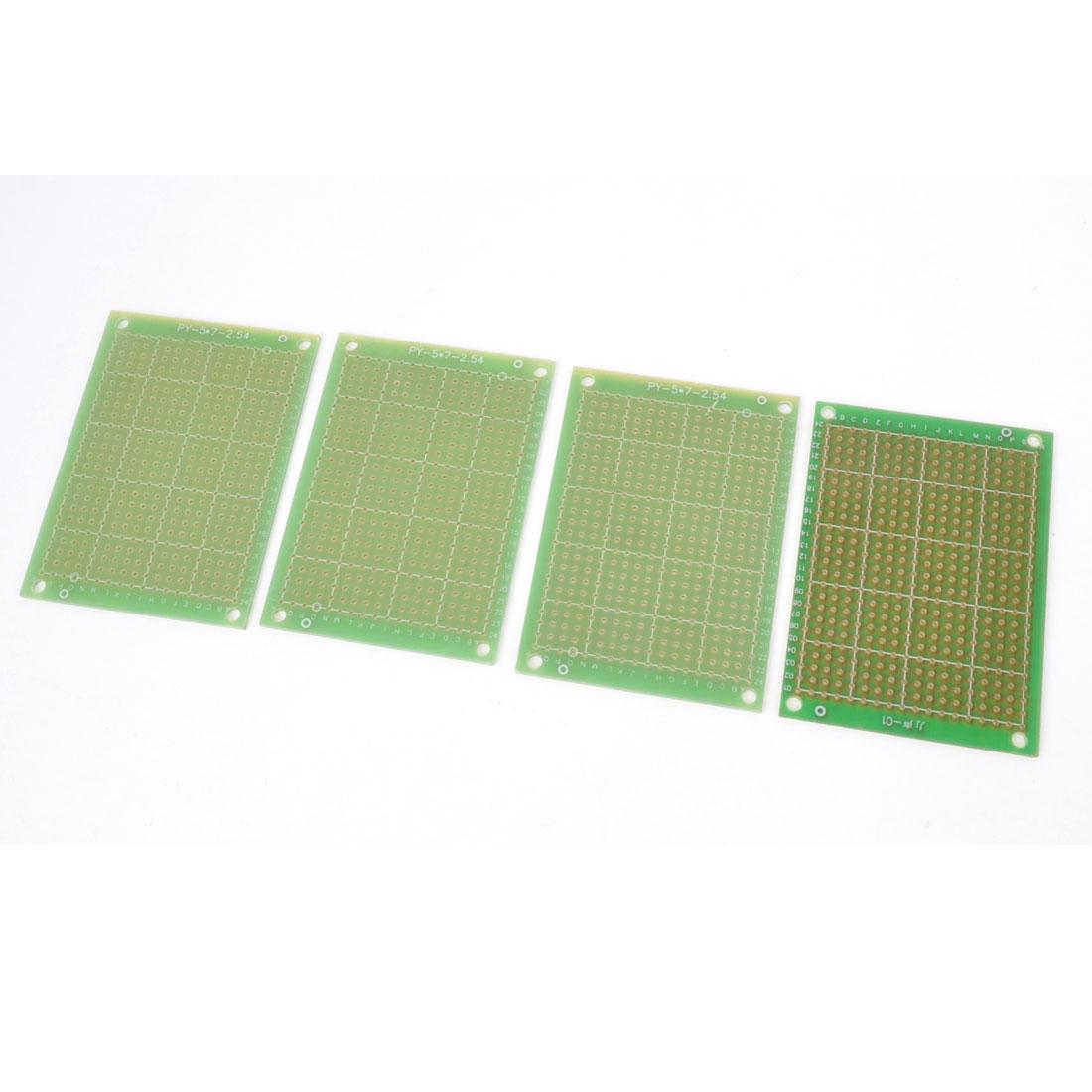 4 Pcs Copper Plated Prototype PCB Board Universal Stripboard Veroboard 7cmx5cm