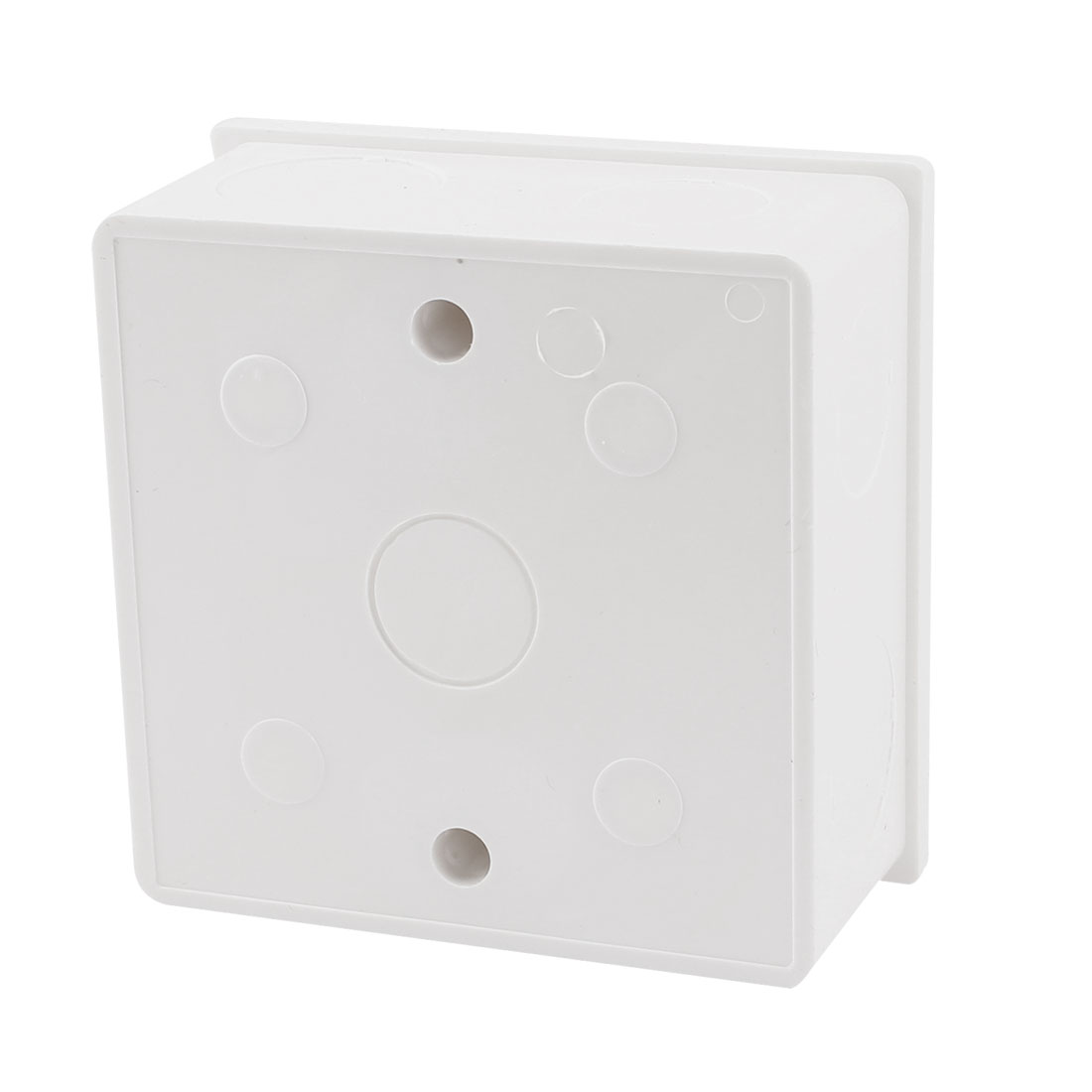 86mmx86mmx40mm White PVC Single Gang Mount Back Box for Wall Socket