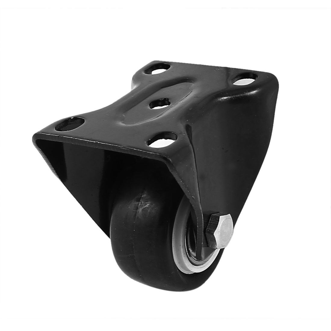 Rectangle Mounted Top Plate 40mm Dia Plastic Directional Wheel Caster Black