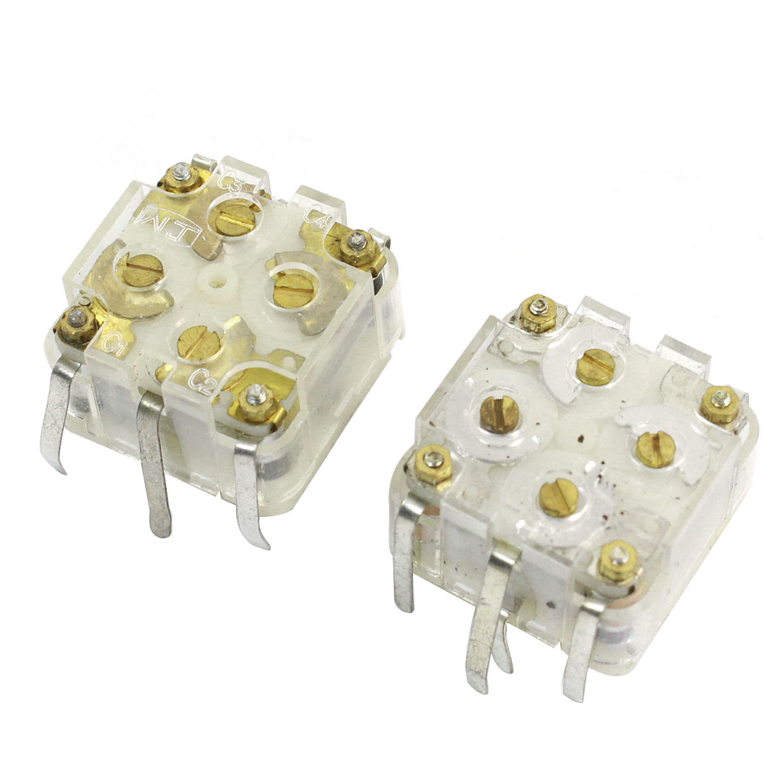 2pcs 443DF 20-126pF Medium Variodencer Adjustable Capacitor for Radio