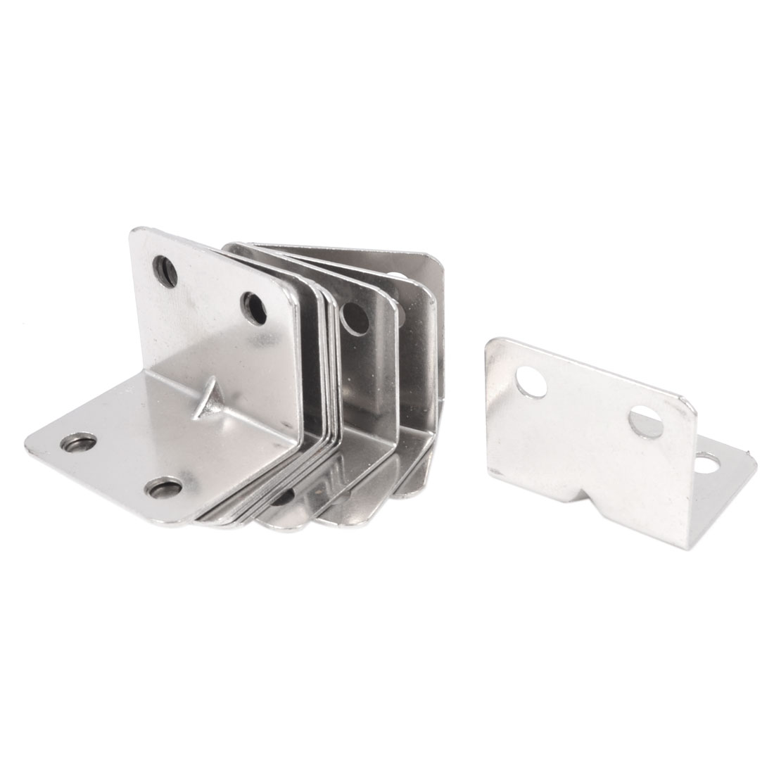 Shelf Door 32mm x 25mm 90 Degree 4 Mount Holes Angle Brackets 10 Pcs