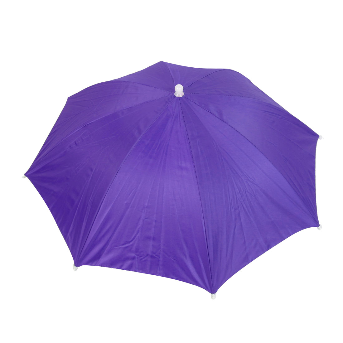 Stretchy Head Band Purple Foldable Umbrella Headwear Hat for Fishing