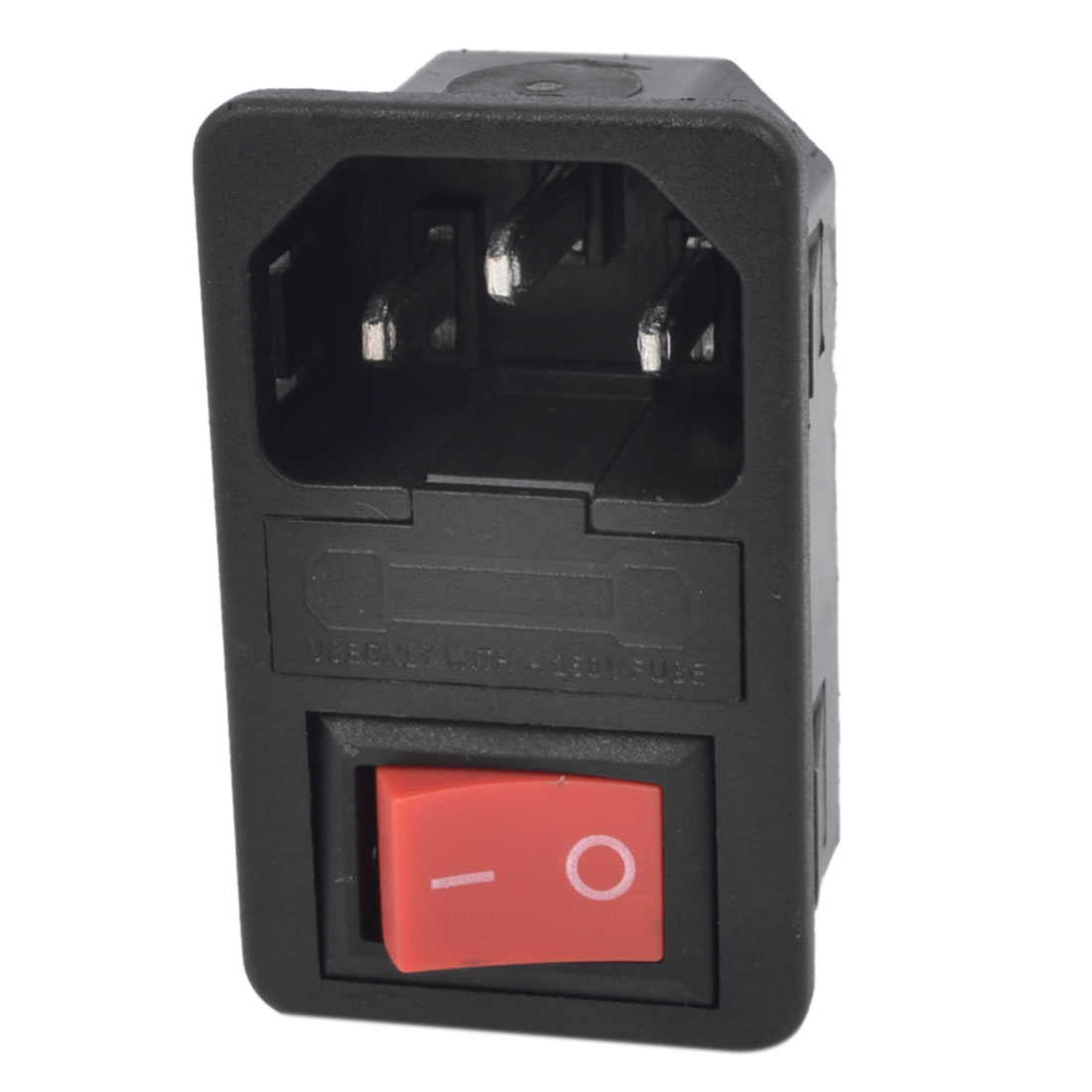 AC 250V 10A 5 Terminal Rocker Switch C14 Inlet Male Power Socket