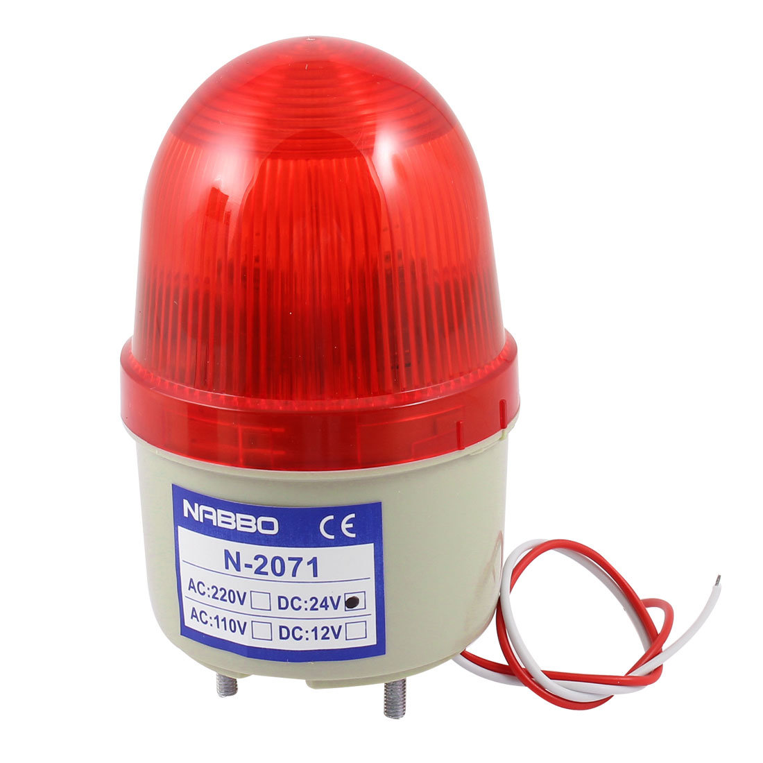 DC 24V Industrial Flash Strobe Light Emergency Warning Lamp Bulb Red N-2071