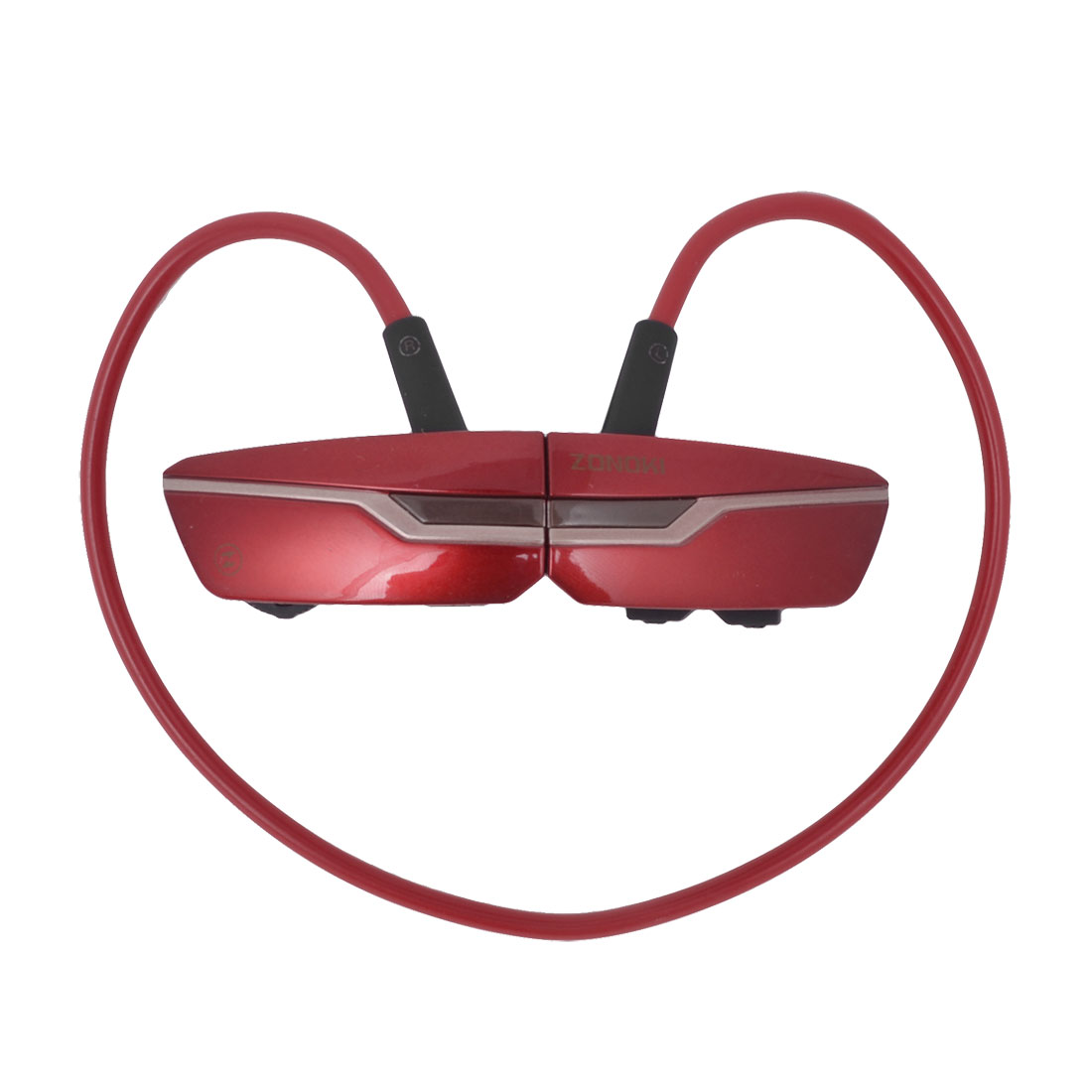 3.7V 150mAH Red Black Wireless bluetooth Stereo Headphone Headset w USB Cable