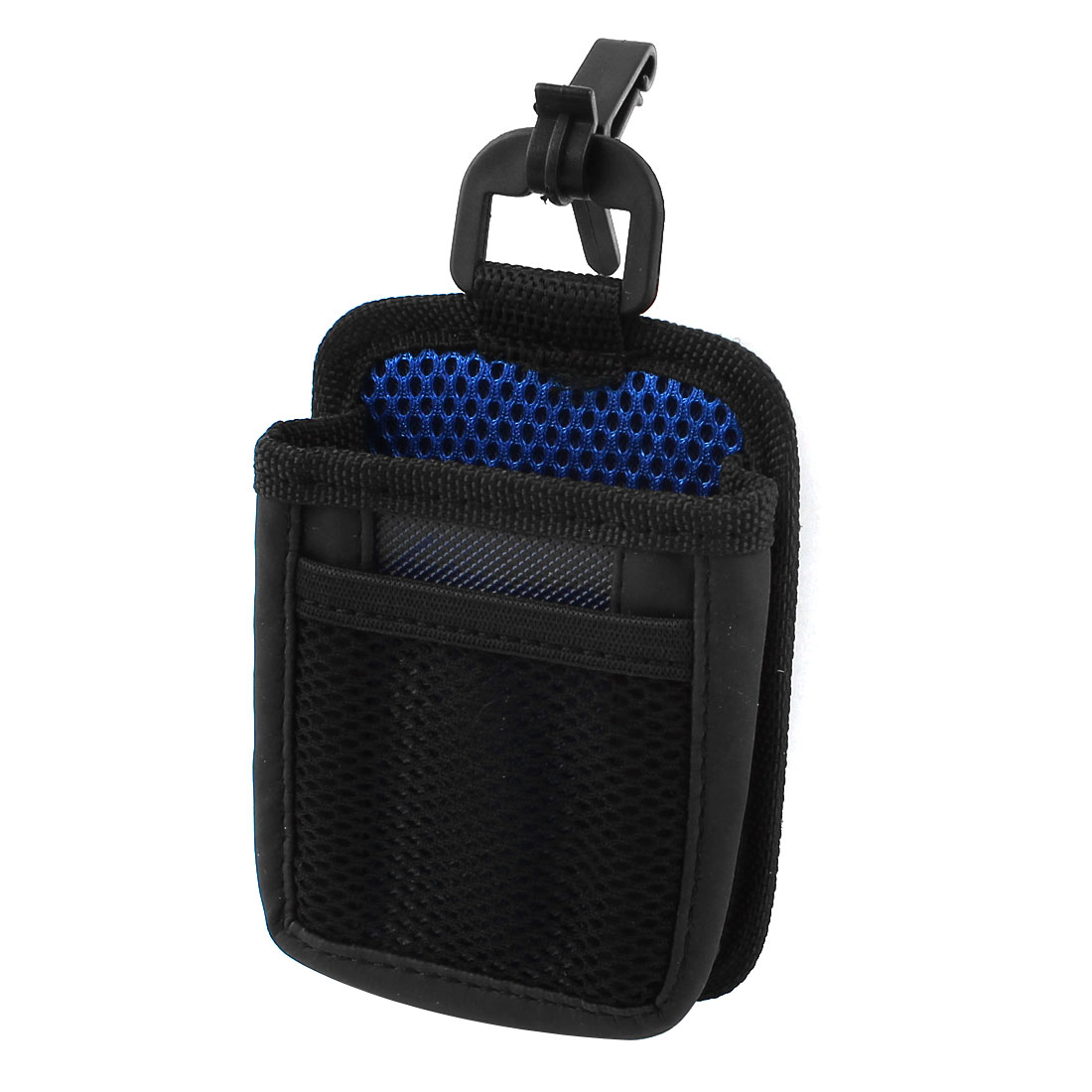 Car Auto Mesh Design Phone Pocket Holder Storage Bag Black Blue