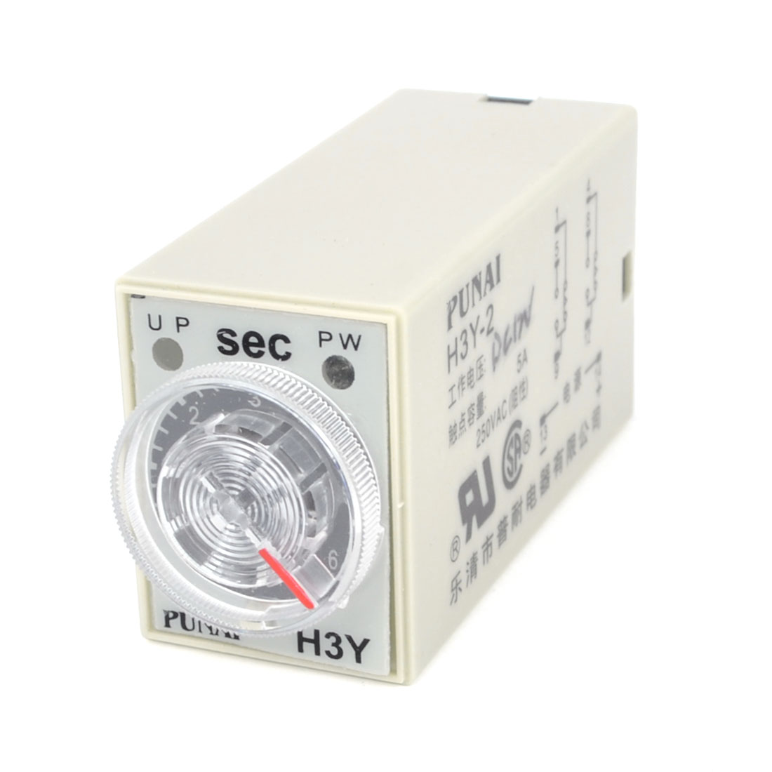 AC 250V 5A 0-60 Seconds Knob Control Electronic Timer Delay Relay H3Y-2