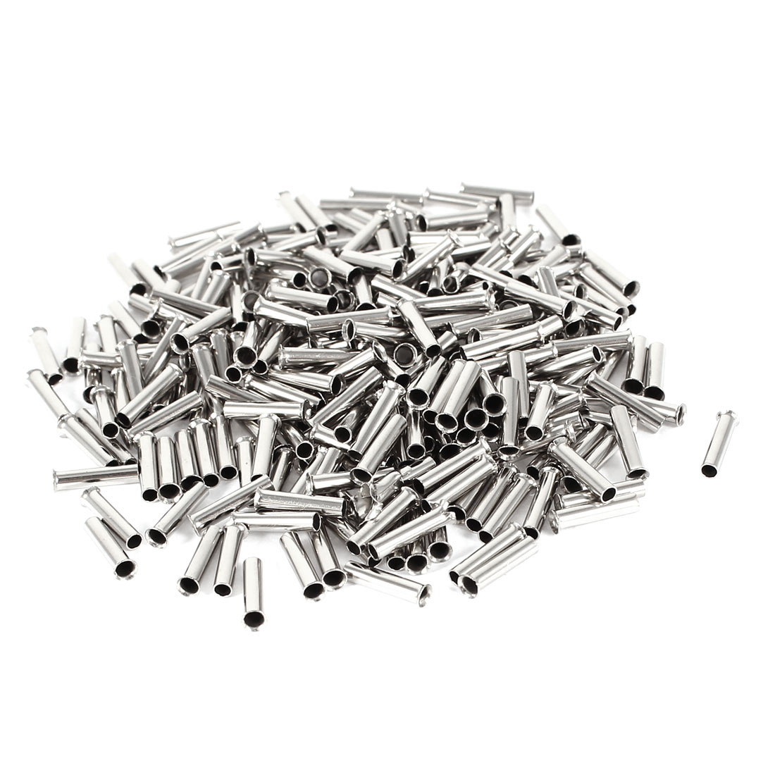 200 Pieces Silver Tone EN1008 Copper A.W.G 18 8mmx2mm Non-Insulated Wire Ferrule