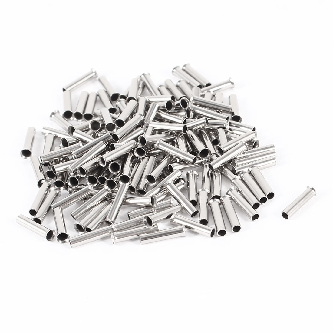 100 Pieces Silver Tone EN1008 Copper A.W.G 18 8mmx2mm Non-Insulated Wire Ferrule