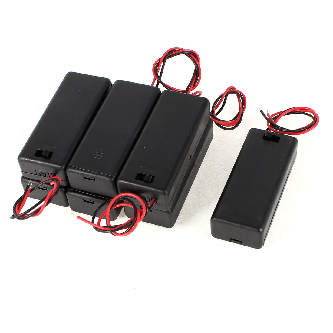 7 Pcs ON/OFF Switch Plastic Cover 2 x 1.5V AAA Battery Case Container Box Holder
