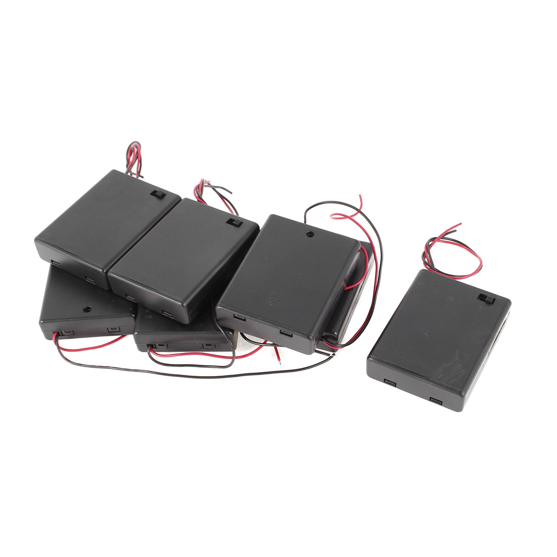 7 Pcs ON/OFF Switch Plastic Cover 4 x 1.5V AAA Battery Case Container Box Holder