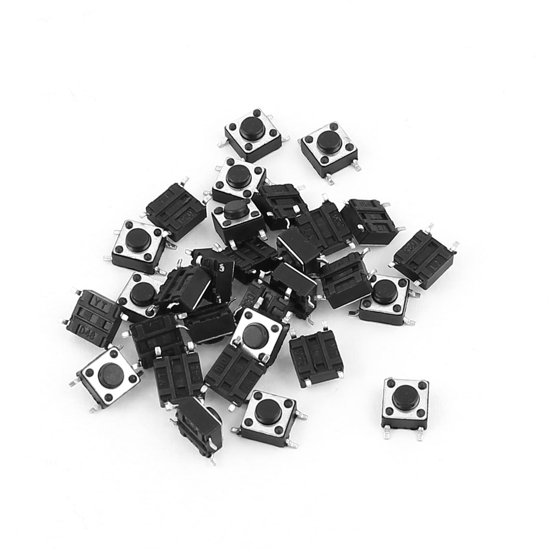 20 x Panel Mounted SMD SMT Momentary 4Pin SPST Tactile Tact Switch 6mmx6mmx4.3mm