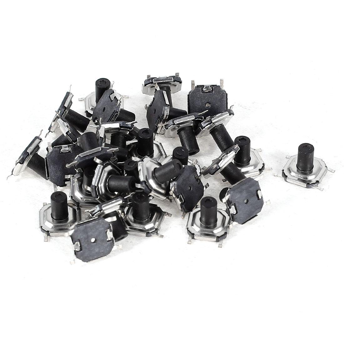30 Pcs Momentary PCB Pushbutton Push Button Tact Tactile Switch SMD 5mmx5mmx4mm