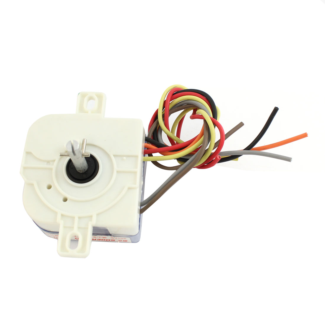 AC220V 3A 6 Wires Connector 90 Degree Rotary Shaft Washing Machine Timer White