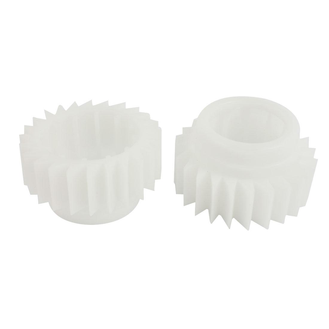 2PCS White Plastic 24 Teeth Clutch Ratchet Wheel for Little Swan Washing Machine