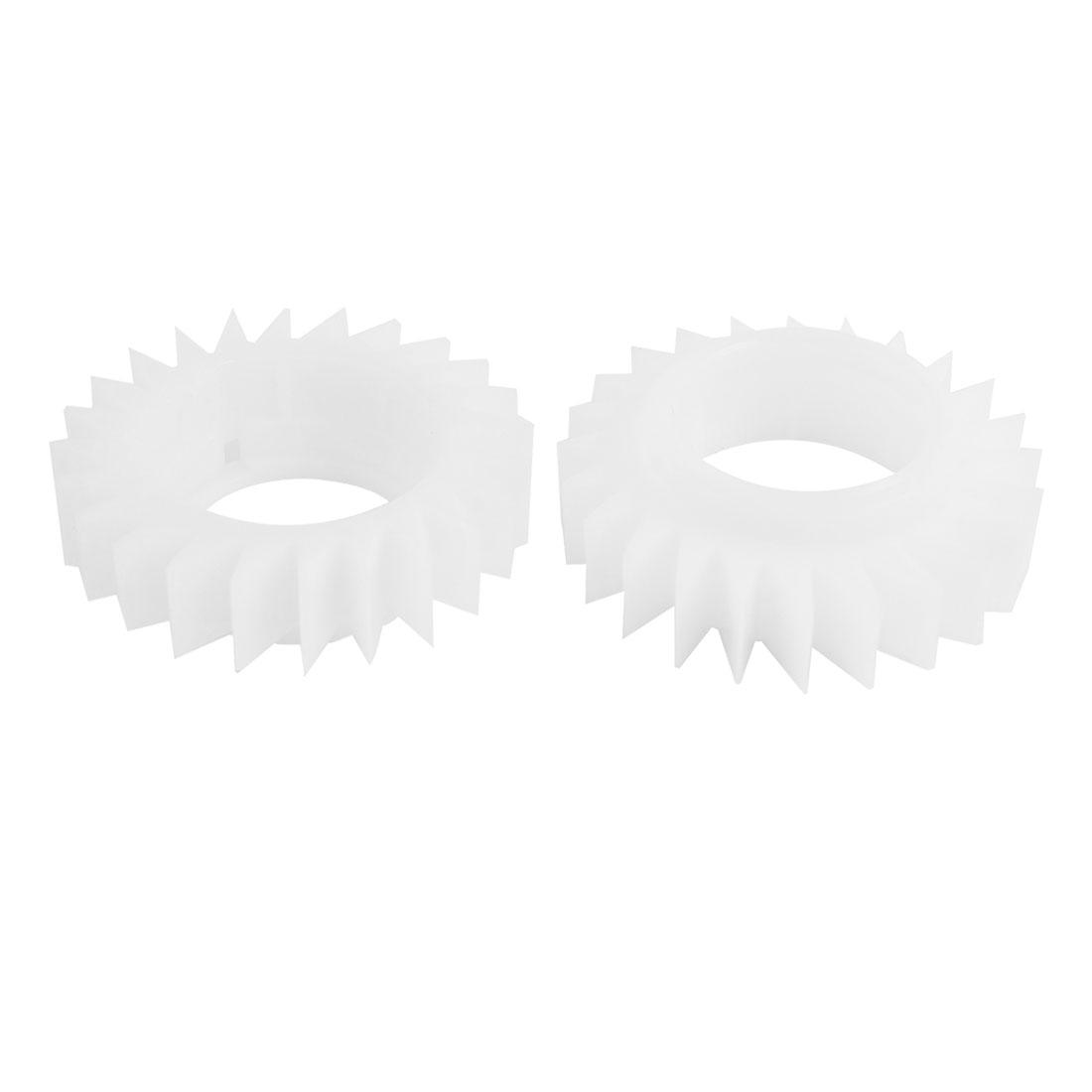 2PCS Plastic White 24 Teeth Clutch Ratchet Wheel for LG Washing Machine