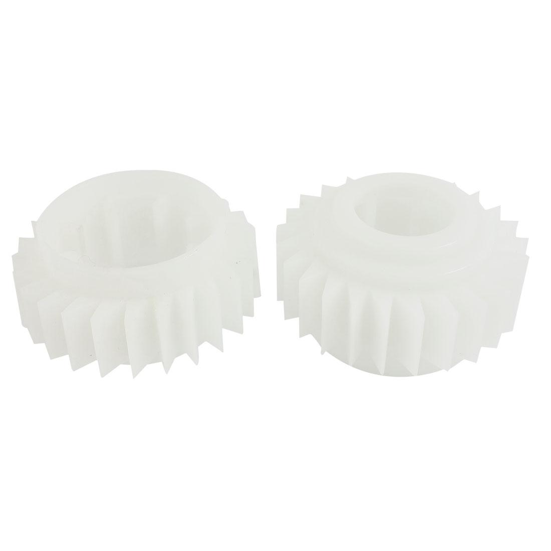 2PCS White Plastic 25 Teeth Clutch Ratchet Wheel for Sharp Washing Machine