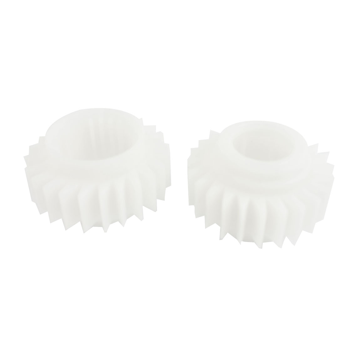 2 Pcs Universal 15mm Width 24 Teeth Plastic Ratchet Wheel White for Washing Machine Washer