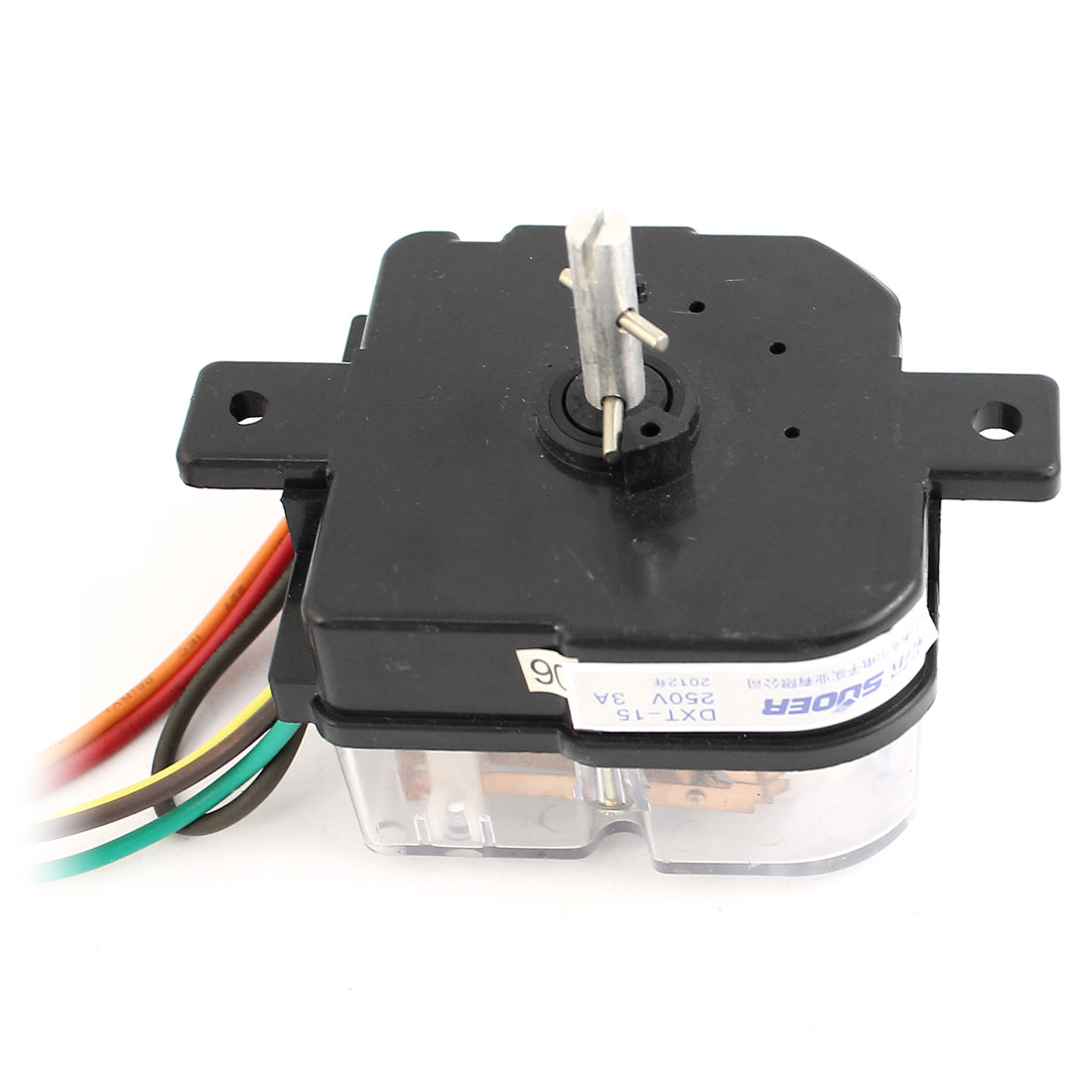 AC250V 3A 5 Wires 45 Degree Rotary Shaft Washing Machine Washer Timer Black