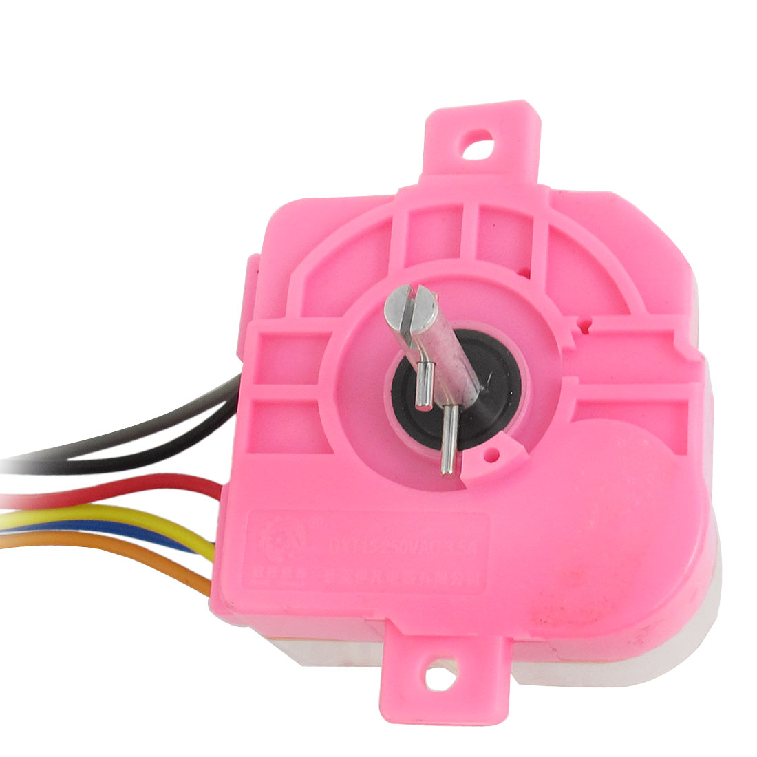 DXT15 AC250V 3.5A 6 Wires 180 Degree Rotary Shaft Washing Machine Washer Timer Pink